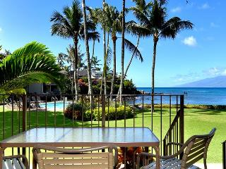 Romantic! Oceanfront Ground Floor Honokeana Cove #114, Air Conditioned - Lahaina vacation rentals