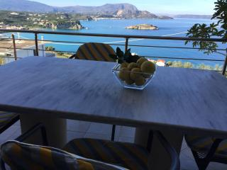 Spacious apt great sea view,2 bedrooms, wifi,bbq,5 min walk to Plaka,800mt beach - Plaka vacation rentals