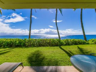 FREE mid-size car - Poipu Shores 102A, Ocean front. Ground floor. Heated pool. - Koloa vacation rentals