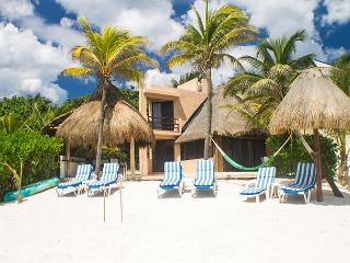 Casa Gray Put your toes in the water, **** in the sand.  Relax in the hammock - Akumal vacation rentals