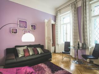 Design, Shopping Avenue: New GLAMOUR LILAC FLAT - Budapest vacation rentals