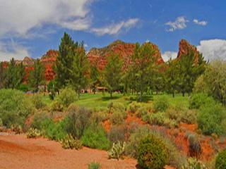This is the view from your deck! - Oakcreek Country Club Golf Course Red Rock Views - Sedona - rentals