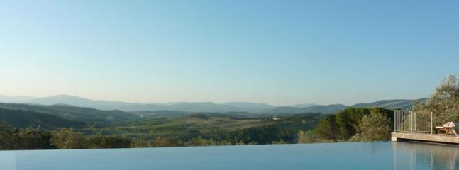 infinity pool West side, in the direction of Florence - saline - Greve in Chianti - rentals