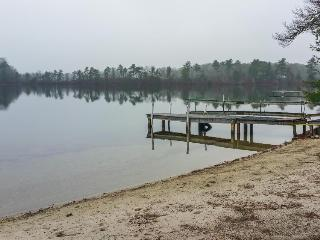 Lakefront house on over seven acres w/ private dock & beach right on the pond! - Wareham vacation rentals