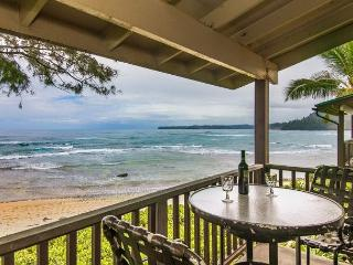 Premium oceanfront unit 10 steps from the sand! Summer special $275/night!!!! - Hanalei vacation rentals