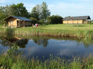 6-p. furnished Safari tent in natural setting - Groningen vacation rentals