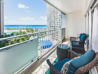 Ocean View Modern Ilikai Condo with Full Kitchen and Tons of Amenities - Honolulu vacation rentals
