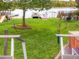 Peaceful 2BR Campbellsport House w/Wraparound Deck, Private Dock & Spacious Yard - Wonderful Lakefront Location w/Close Proximity to Kohler Golf Courses & Whistling Straights! - Campbellsport vacation rentals
