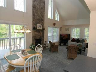 Charming, 2BR + Loft Catskills Riverfront A-Frame Chalet on the Delaware w/Spacious Wraparound Deck - On 5 Wooded Acres - Callicoon vacation rentals