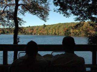 Waterfront cottage, private beach, huge deck - Northwood vacation rentals