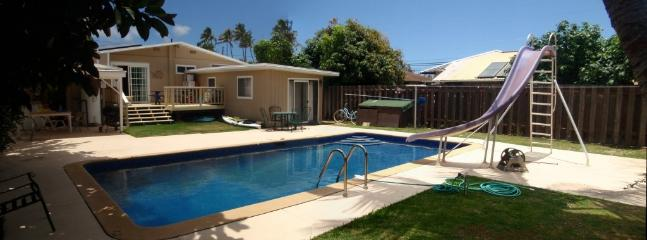 Pool, Lanai, and House - Kailua Beach Escape, Full Size Pool - Kailua - rentals