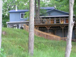 Mich. lakefront home- sleeps 12 -spectacular view! - LeRoy vacation rentals