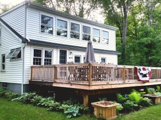 Charming 3BR Rushford Lake House w/Expansive Deck & Large Dock Nearby- Just Across the Street From the Lake & Semi-Private Beach! - Caneadea vacation rentals