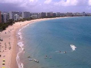 Ocean View from the Apartment - Beachfront Apartment, 2 Steps & You Are in the Sand! - Isla Verde - rentals