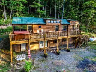 'WV Cabin in the Woods' Cedar 2BR Cabin in Lake Ferndale w/Wifi, 2 Lofts, Private Hot Tub, Huge Deck & Stunning Views - Near Lake Ferndale, Potomac River & Historical Sites! - Springfield vacation rentals