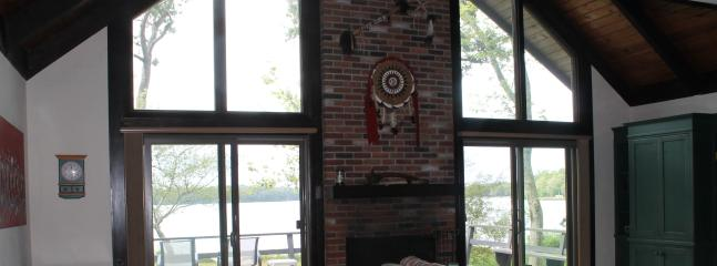 View of pond from kitchen - Waterfront Cape Cod home on John's Pond - Mashpee - rentals