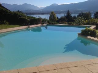 Le Clos Lamartine piscine vue lac et montagne - Tresserve vacation rentals