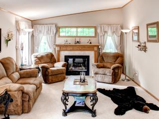 Cozy 3BR Lake Shore House w/Fire Pit, Large Deck & Gas Grill – Secluded Location, Across the Street from Gull Lake! Walk to Boat Landing, Swimming & More - Lake Shore vacation rentals