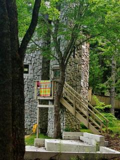 """""""Dragonwood Castle"""" - Whimsical 3BR Prospect Harbor Home on 6.7 Private Acres w/200 Feet of Water Frontage & Sweeping Views - Prospect Harbor vacation rentals"""