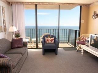 Living Room with View - Affordable Oceanfront Condo - North Myrtle Beach - rentals