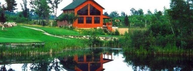 View from Golf Course - Golf Log Home - Comins - rentals