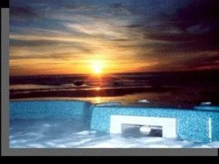 Sunset from Hot Tub - Large Oceanfront Home w/Hot Tub Lincoln City Coast - Lincoln City - rentals