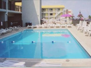 Olympic Gardens Oceanfront Condo with heated pool - North Wildwood vacation rentals