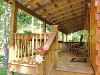 Hot Springs nc honeymoon cabin w hot tub on creek - Hot Springs vacation rentals