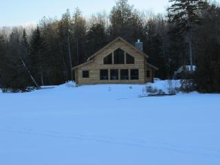 New Log Cabin Nestled Between 5 Mountains on Water - Westmore vacation rentals