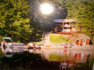 Spectacular Waterfront Log Cabin W/ Sandy Beach - East Wakefield vacation rentals