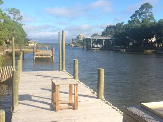 CANAL FRONT WITH DOCK AND LAUNCH, CLOSE TO BEACH - Saint George Island vacation rentals