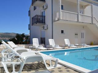 1-Bedroom Sea View Apartment with Pool near Trogir - Okrug Donji vacation rentals