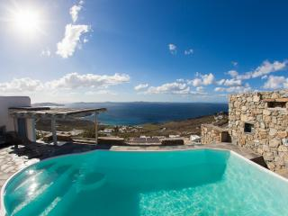 Enjoy panoramic sunset views over the Aegean sea - Mykonos vacation rentals