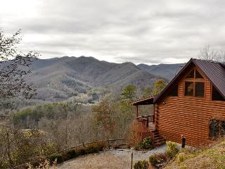 Cloud 10 Mountaintop Guesthouse – Location, Location, Location! You come here for the View! Well here you go! This Solid Log 4 bedroom Retreat has it all... From Wi-Fi to the most Breathtaking Long Range Views you will find anywhere! - Dillsboro vacation rentals