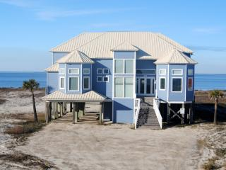 Luxury Waterfront Home with  Private Pool and  Hot Tub, overlooking a private bayfront sandy beach. - Dauphin Island vacation rentals