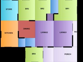 Bright 4 bedroom Taman Molek House with Balcony - Taman Molek vacation rentals