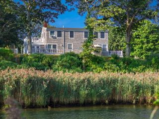 BURTS - Lagoon View House, Gorgeous Waterviews, Screened Porch, Large Deck, Patio Area, A/C in 5 Bedrooms - Vineyard Haven vacation rentals