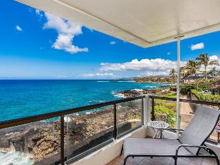 Poipu Shores 207A-Awesome 2bd/sleeps 6 Ocean Front end condo with gorgeous ocean views. Ocean front heated pool. Free car** - Poipu vacation rentals