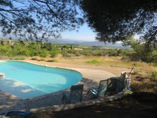Hill top villa with private pool; beautiful views - Ginestas vacation rentals