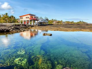 Quiet & Surreal 2BR Oceanfront Kapoho House by WaiOpae Tidepools Sanctuary w/ WiFi, Spacious Private Deck & Spectacular Ocean Views - Excellent for Snorkeling & Exploring! - Kapoho vacation rentals