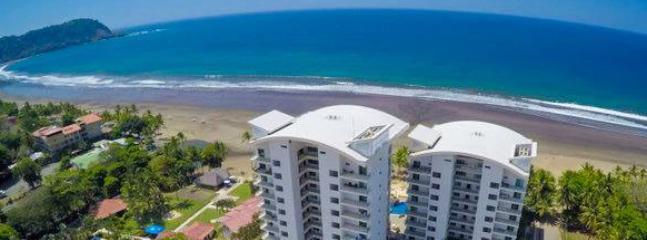 Aerial view of Diamante Del Sol and the beach - Diamante del Sol 502N 5th Floor Ocean View - Jaco - rentals