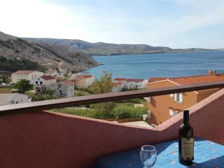 Seaview studio apartment for 3 - Metajna vacation rentals