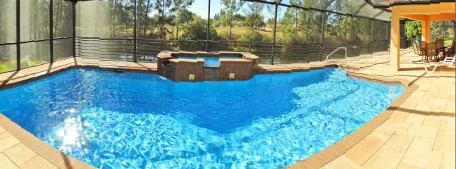Oversize pool  with light color selection at night! - Southern exposure  home with over-sized pool &!!! - Cape Coral - rentals