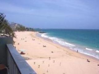 View from Balcony. Beautiful Condado Beach - Studio Condo on Beautiful Condado Beach - San Juan - rentals