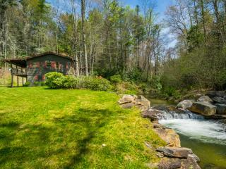 Trout Cabin on River 9 Acre 100% Private Waterfall - Sapphire vacation rentals