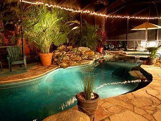 private tropical garden home with waterfall pool. - Holmes Beach vacation rentals