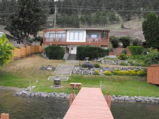 Unique Lakeside Beach House- boat lift and dock - Vernon vacation rentals