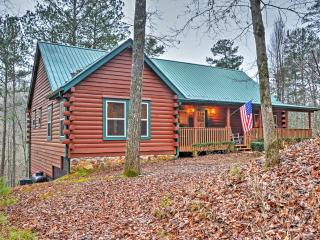 'Stoney Creek' Authentic 4BR Ellijay Log Cabin w/Multiple Large Decks, Private Hot Tub & Outdoor Fire Pit - Spectacular Creekside Location on 5.2 Acres! - Ellijay vacation rentals