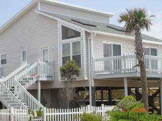 Modern beach cottage steps from ocean w/pool & spa - North Topsail Beach vacation rentals
