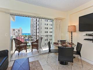 1 bedroom, central AC, pool; 5 min. walk to beach.  Sleeps 4. - Waikiki vacation rentals